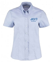 JCI Scotland Dress Shirt Short Sleeve Ladies Light Blue