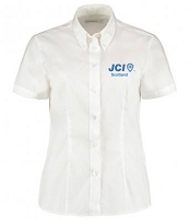 JCI Scotland Dress Shirt Short Sleeve Ladies White