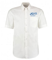 JCI Scotland Dress Shirt Short Sleeve Men's White