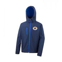 Loch Lomond RFC Core Hooded Soft Shell Jacket Navy/Royal Blue