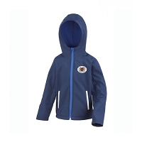 Loch Lomond RFC Core Kids TX Performance Hooded Soft Shell Jacket Navy/Royal Blue