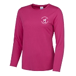 Meadowbank Gymnastic Club Girlie Long Sleeve T Hot Pink