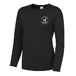 Meadowbank Gymnastic Club Girlie Long Sleeve T Jet Black