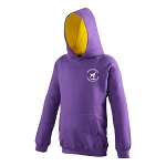 Meadowbank Gymnastic Club Varsity Kids Hoodie Purple/Sun Yellow