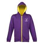 Meadowbank Gymnastic Club Kids Varsity Zoodie Purple/Sun Yellow