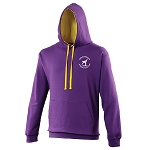 Meadowbank Gymnastic Club Varsity Hoodie Purple/Sun Yellow