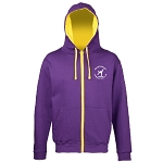 Meadowbank Gymnastic Club Varsity Zoodie Purple/Sun Yellow