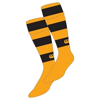 Mid Argyll RFC Hooped Sock - Black/Gold