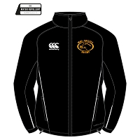 Mid Argyll RFC Team Full Zip Rain Jacket Senior - Black/White