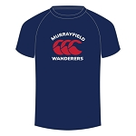 Murrayfield Wanderers Mini/Midi FC Logo T Shirt Junior Navy