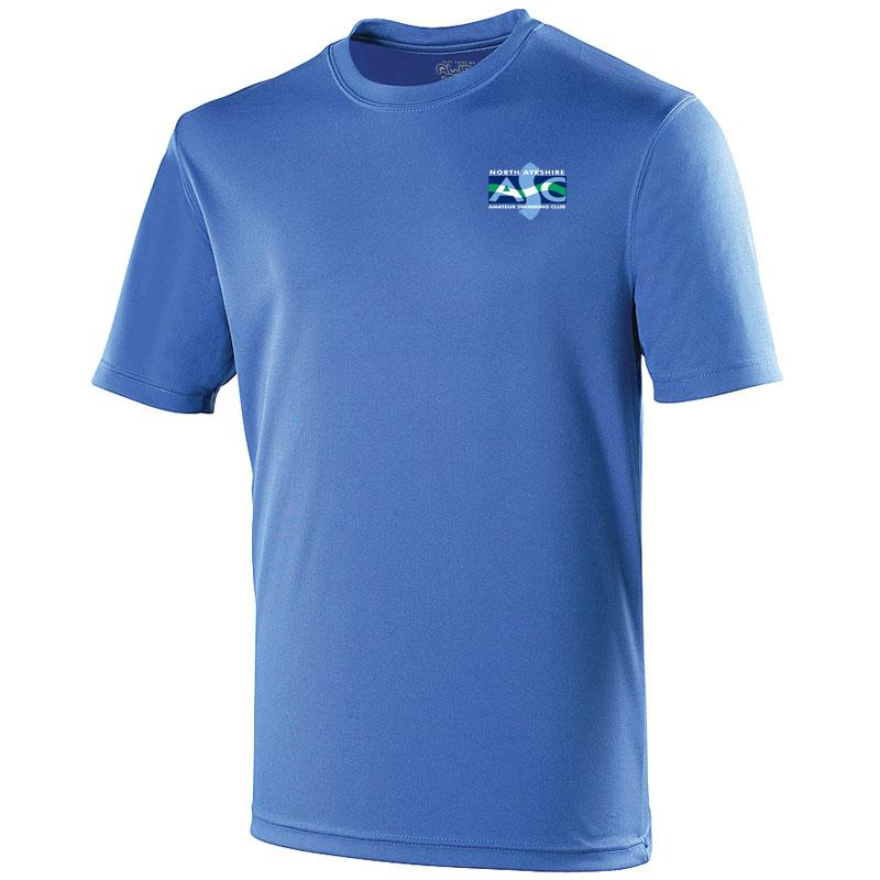 North ayrshire asc embroidered cool t shirt royal