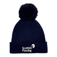 Scottish Fencing Bobble Hat Navy