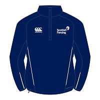 Scottish Fencing Mens Team 1/4 Micro Fleece Navy
