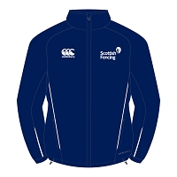 Scottish Fencing Team Full Zip Rain Jacket Navy