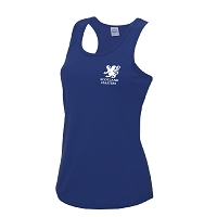 Scottish Women's Masters Hockey Girlie Cool Vest - Royal Blue