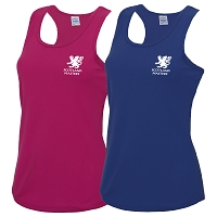 Scottish Women's Masters Hockey Pack of 2 Girlie Cool Vests - Hot Pink / Royal Blue