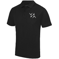 West Dunbartonshire Gymnastics Club Adults Cool Polo - Jet Black