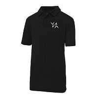 West Dunbartonshire Gymnastics Club Kids Cool Polo - Jet Black