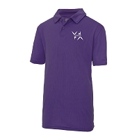 West Dunbartonshire Gymnastics Club Kids Cool Polo - Purple