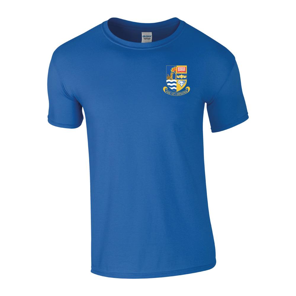 Glasgow Warriors Home Games 2019: Galashiels Academy Gym T-Shirt Royal