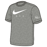 GCU Men's Graphic Tee Dk Heather Grey/White