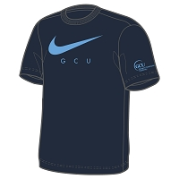 GCU Dept of Psychology Women's Graphic Tee Obsidian/University Blue