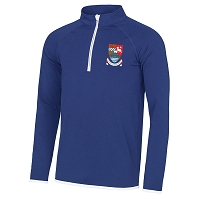 Kyle Academy Mens 1/4 Zip Sweat - Royal