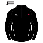 Edinburgh Napier University Sport, Exercise & Health Team 1/4 Zip Micro Fleece Black