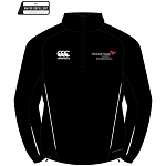Edinburgh Napier University Sport, Exercise & Health 1/4 Zip Mid Layer Training Top Black
