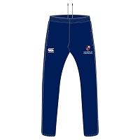 AUSA Sports Tapered Poly Knit Stretch Pant Navy