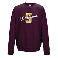 Strathclyde Warriors Crew Neck Sweater Maroon