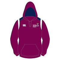 University of Strathclyde Womens Pride Hoody Maroon/Navy/White