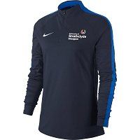 University of Strathclyde Nike Women's Academy 18 Drill Top - Obsidian/Royal Blue/(White)