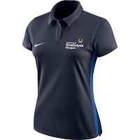 University of Strathclyde Women's Nike Academy 18 Polo - Obsidian/Royal Blue/(White)
