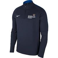 University of Strathclyde Men's Nike Academy 18 Drill Top - Obsidian/Royal Blue/(White)