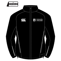 UOD Sports Full Zip Rain Jacket Unisex Fit Black