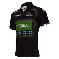 2018/19 Glasgow Warriors Home Replica Shirt JNR SS