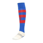 Macron Hoops Sock - Blue/Red (Pack of 5)