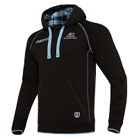 2017/18 Glasgow Warriors Official Heavy Cotton Hoody BLK/SKY SR