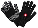 Macron Rivet Gloves - Black (Pack of 6)