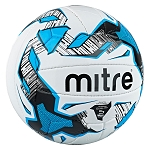 Mitre Malmo+ Training Football - White/Black/Cyan