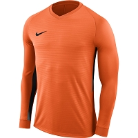 Nike Tiempo Premier L/S Jersey - Safety Orange/Black