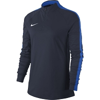 Nike Women's Academy 18 Drill Top - Obsidian/Royal Blue/(White)