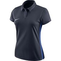 Nike Women's Academy 18 Polo - Obsidian/Royal Blue/(White)