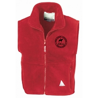 HRA Hampton Court Junior Polartherm™ Fleece Bodywarmer - Red