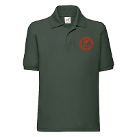 HRA Hampton Court Kids Poly/Cotton Piqué Polo Shirt - Bottle Green