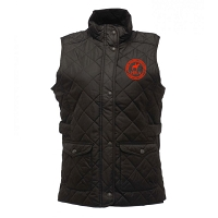 HRA Hampton Court Ladies Diamond Quilted Bodywarmer - Black