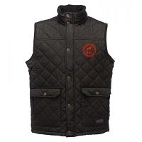 HRA Hampton Court Diamond Quilted Bodywarmer - Black