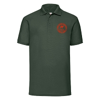 HRA Hampton Court Poly/Cotton Piqué Polo Shirt - Bottle Green