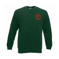 HRA Hampton Court Classic Drop Shoulder Sweatshirt - Bottle Green